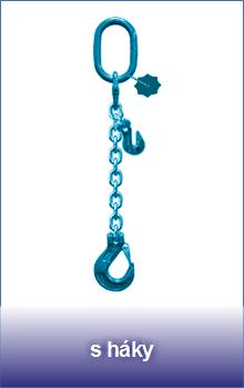 1-pramenné řetězové zkracovací úvazky třídy 12 zakončené hákem