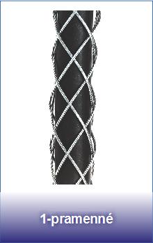 1-pramenné ocelové punčochy pro lana a kabely