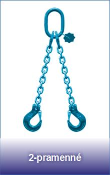 2-pramenné řetězové úvazky třídy 12