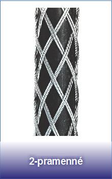 2-pramenné ocelové punčochy pro lana a kabely