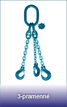 3-pramenné řetězové úvazky třídy 12