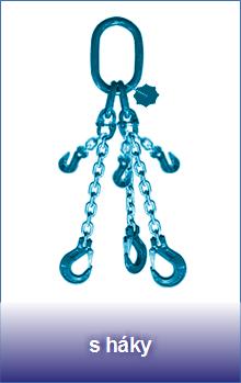 3-pramenné řetězové zkracovací úvazky třídy 12 zakončené háky