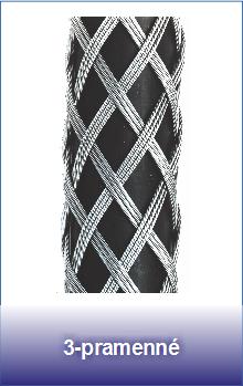 3-pramenné ocelové punčochy pro lana a kabely