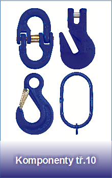 Řetězové komponenty pevnostní třídy 10