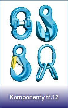Řetězové komponenty pevnostní třídy 12