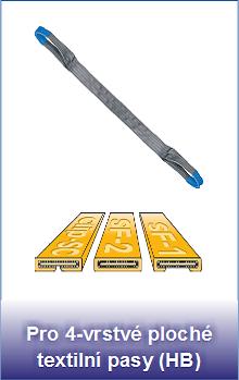 Polyuretanové ochranné návleky Secutex Clip-SC pro 4-vrstvé ploché pasy HB