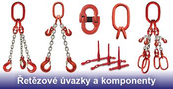 Řetězové úvazky a komponenty