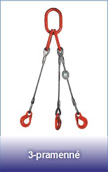 3-pramenné úvazky z ocelových lan