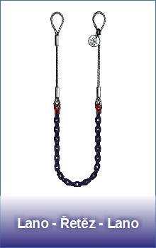 Úvazky lano-řetěz-lano třída 10