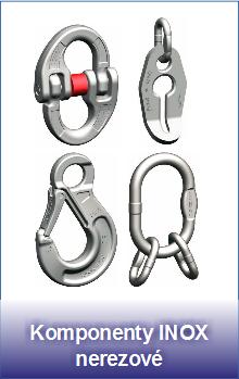 Nerezové řetězové komponenty INOX