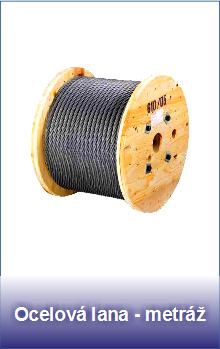 Ocelová lana metráž