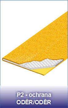 textilní pasy P2 s ochranou ODĚR/ODĚR