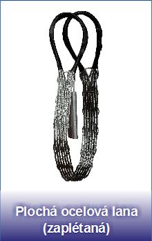 Plochá ocelová lana zaplétaná