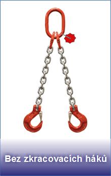 Řetězové úvazky třídy 8 bez zkracovacích háků