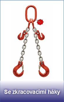 Řetězové úvazky třídy 8 se zkracovacími háky