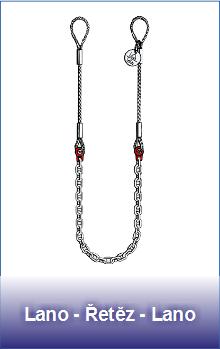 Úvazky lano-řetěz-lano