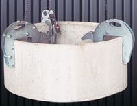 Nosič skruží šachtový 1,5t, 25-185 mm