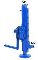 Hřebenový zvedák s přestavitelnou opěrou 15-00, nosnost 2,5 t, ráčnoklika