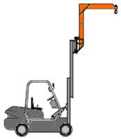Závěsné rameno na desku VZV zvýšené jednoduché ZR1HD 3000kg