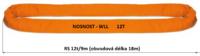 Jeřábová smyčka RS 12t,4,5m užitná délka