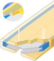 PU ochrana jednostranná pro 4vrstvé ploché pasy Clip-SC s broušeným povrchem 150mm