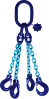 4-hák řetězový průměr 10 mm, délka 2,5 m, třída 10 GAPA