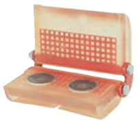 Rohová kloubová ochrana SKB pro textilní úvazky 30mm, jednostranný magnet
