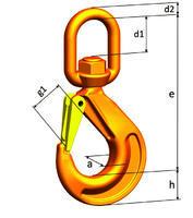 Hák otočný pod zátěží WSBW průměr 13 mm, třída 10