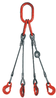 4-hák lanový průměr 10mm, délka 5m