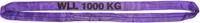 Jeřábová smyčka  RS 1t,0,5m GAPA, užitná délka