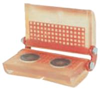 Rohová kloubová ochrana SKB-60B pro textilní úvazky 60mm, jednostranný magnet