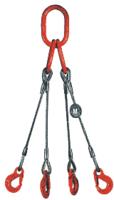 4-hák lanový průměr 10mm, délka 4,5m