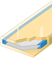 Polyuretanová ochrana oboustranná pro 4vrstvý pás SF2-PCS šíře 300mm