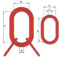 Závěsné oko lanové B23Q, nosnost 5,8 t GAPA