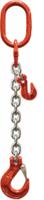 Oko-hák řetězový průměr 10 mm, délka 1,5 m, zkracovací háky, třída 8 GAPA