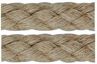 Konopné lano pletené 8mm