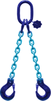 2-hák řetězový průměr 6 mm, délka 1,5 m, třída 10 GAPA