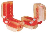 Rohová kloubová ochrana pro ocelová lana a řetězy 8mm