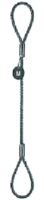 Oko-Oko lanové průměr 10mm, délka 2,5m, kónické objímky