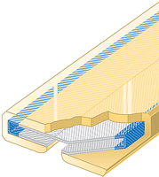 Polyuretanová ochrana jednostranná pro 4vrstvé ploché pasy Clip-SC šíře 30mm