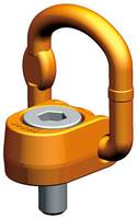 Šroubovací otočný a sklopný bod PLAW M20x33, nosnost 2,5 t