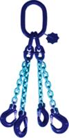 4-hák řetězový průměr 10 mm, délka 1,5 m, třída 10 GAPA