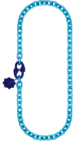 Řetěz nekonečný průměr 10 mm, užitná délka 4,5 m, třída 10 GAPA