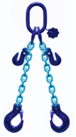2-hák řetězový průměr 10 mm, délka 4,5m, zkracovací háky, třída 10 GAPA