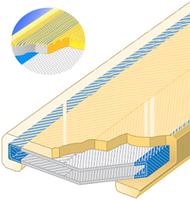 Polyuretanová ochrana jednostranná pro 4vrstvý pás s broušeným povrchem SF1-PCS šíře 180mm