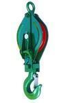 Kladka montážní s hákem 1t lano 10-12/100mm lak,  bez lana