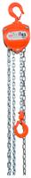 Řetězový kladkostroj X-CH05, nosnost 0,5 t, délka zdvihu 3 m