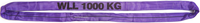 Jeřábová smyčka  RS 1t,1,5m GAPA, užitná délka