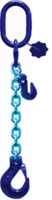 oko-hák řetězový průměr 10 mm, délka 3 m, zkracovací háky, třída 10 GAPA