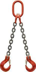 2-hák řetězový průměr 6 mm, délka 1 m, třída 8 GAPA